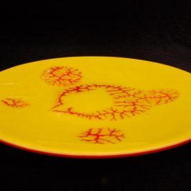 john-wheeler-platter-yellow-red