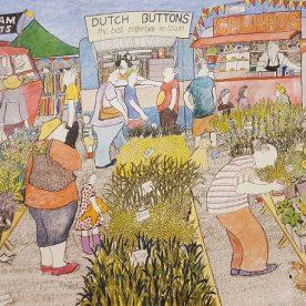 Dougal Ramsay Sunday Market fFever, Queenscliff 66 x 92cm