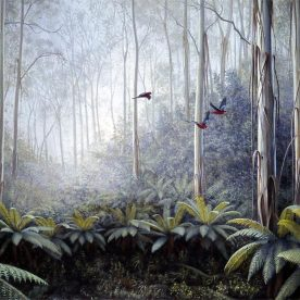 Richard Weatherly Forest Flight Giclee' Framed Edition of 150 450 x 610mm $700
