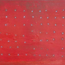 Nathan Wilkinson Rat a Tat Tat Red35.5 x 25.5cm $210