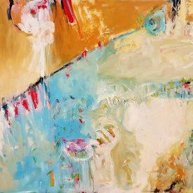 Margaret Delahunty Spencer - Tide Past 1520 x 1220mm $2800