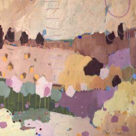 Kate Gorman Pink Blossom 76 x 76cm $1,400