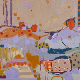 Kate Gorman First Day of Spring 76 x 76cm