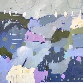 Kate Gorman Morning Walk 102 x 102cm $2,200