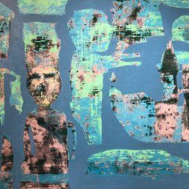 Nathan Wilkinson Blue Green Algae on my bbbrrrain 101 x 137cm $1650