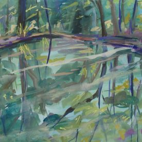 Wendy Jagger Dreaming of Wollemi Gouache 54 x 74 cm