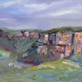 Wendy Jagger Mood Walls Oil on board 30 x 40 cm $575