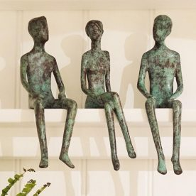 Laura Jane Wylder Let's Talk Trio Bronze Edition of 100 $1,200 AVAILABLE TO ORDER