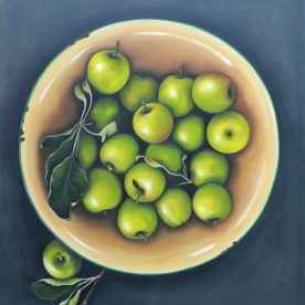 Kylie Sirett Most of the time, beauty lies in the simplest things 76 x 71cm SOLD