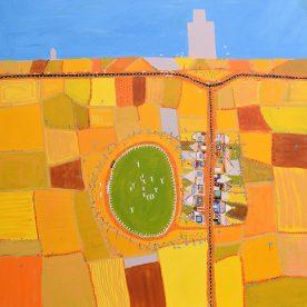 Wayne Elliott Wheat Town, Brim 101 x 101cm