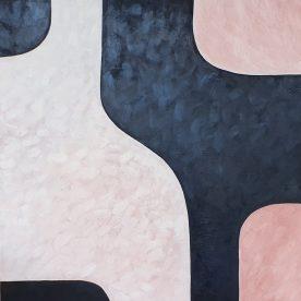 Dawn Robinson Curves Oil on Canvas 910 x 910mm $1,150