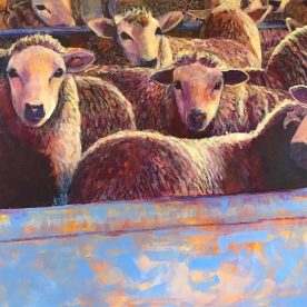 Virginia Farley Yarded Acrylic on Linen 92 x 122cm $2,500