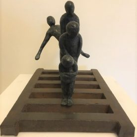 Alan Kuczynski, It's all about Attitude, Bronze, Steel, 15 x 20 x 25cm, $3,900