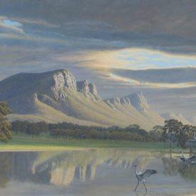 Richard Weatherly Grampians Wakening Giclee' on canvas Ed of 100 81 x 120cm Framed $1,750 p248-249 ORDERS TAKEN