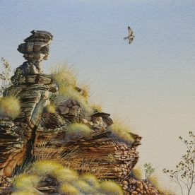 Richard Weatherly Sandstone Spirit Watercolour on paper 28 x 38cm Framed $3,800 p142-143 SOLD