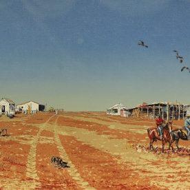 Richard Weatherly Muster Time Silkscreren Print 59 x 96cm Framed Edition of 94 $1,250 ORDERS TAKEN