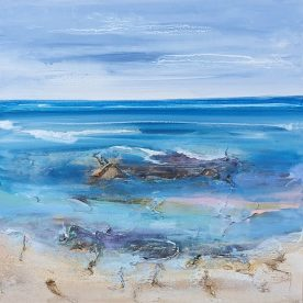 Georgie Gall Dreaming of a Swim 64 x 64cm SOLD