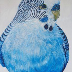 Jill Barber Richardson Blue Banner Pickle 152 x 122cm $5,500