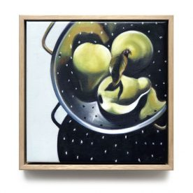 Kylie Sirett It is during our darkest moments that we must focus to see the light Oil on linen 25.5 x 25.5cm Framed $490