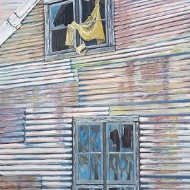 Linda Gallus 'Room With a View' Acrylic on canvas 100 x 50cm $1,900
