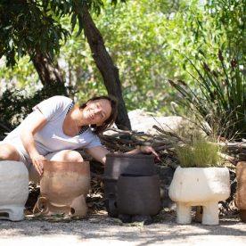Pattie Beerens and her pots