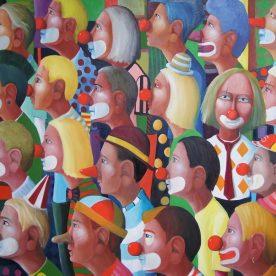 William Linford Clown Control 120 x 140cm $5,200