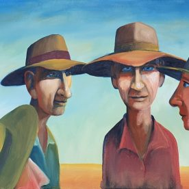 William Linford Locals Oil on canvas 41 x 51cm $650 SOLD