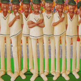 William Linford Baggy Green XI Break for Drinks Oil on canvas 100 x 140cm $4,400