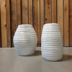 Alice Morgan Yellow Gums 1 & 2 Glazed Stoneware $195 straight AVAILABLE, $230 bendsSOLD