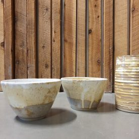 Karen Steenbergen Rust Series Bowls and Vase $45 each and $95 ALL SOLD