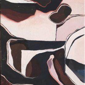Rachel King Current #2 30 x 23.5cm Oil on linen in Victorian Ash frame $400