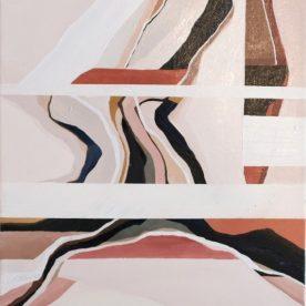 Rachel King East 44 x 34cm Oil on linen in pine frame $500