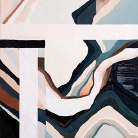 Rachel King North 44 x 34cm Oil on linen in pine frame $500 SOLD