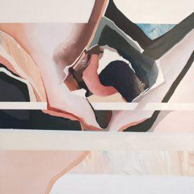 Rachel King Rosa 40 x 40cm Oil on board in Victorian Ash frame $565