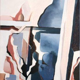 Rachel King South 44 x 34cm Oil on linen in pine frame $500