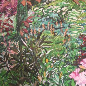Jo Reitze The Secret Garden, Cloudehill Gouache on board 57 x 81 cm $2000