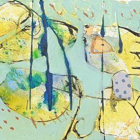 Margaret Delahunty Spencer Remember Me  Acrylic & Ink on canvas 340 x 440mm Framed $620
