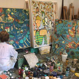 Margaret Delahunty Spencer in Studio Memory Pool 2021