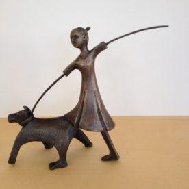 Mary van den Broek Dog Walk Bronze Edition 6 of 8 $2,700