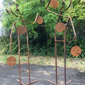 Mary van den Broek Talk the Talk Welded Steel $1,600 each or $3,000 the pair