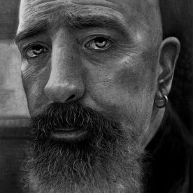 Matt Walters Adrift Charcoal on watercolour paper 76 x 46cm Black stained Vic Ash frame, non reflective art glass $750