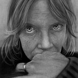 Matt Walters Allay Charcoal on watercolour paper 76 x 56cm Black stained Vic Ash frame, non reflective art glass $800 SOLD