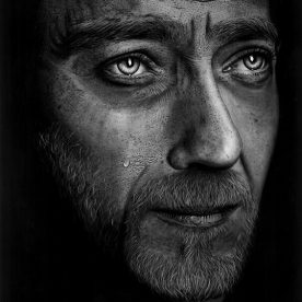 Matt Walters Untitled Male Charcoal on Watercolour Paper 76 x 56cm Black stained Vic Ash frame $NFS